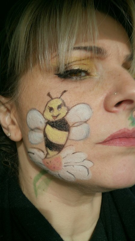 Maquillage pour carnaval sur moi même !