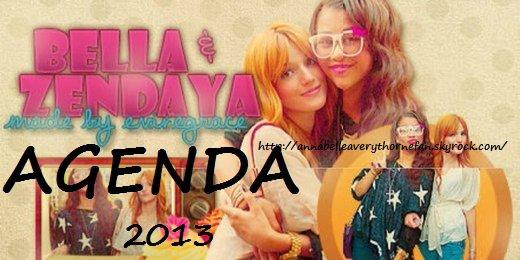 Agenda de Bella Thorne  2013