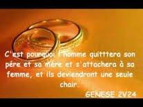 Genèse chapitre 2 verset 24