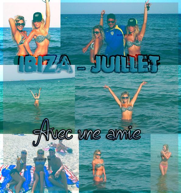 Stéphanie avec une amie s'éclatant à Ibiza - July