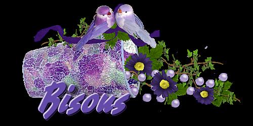 Cadre fleuri parme & Lavande