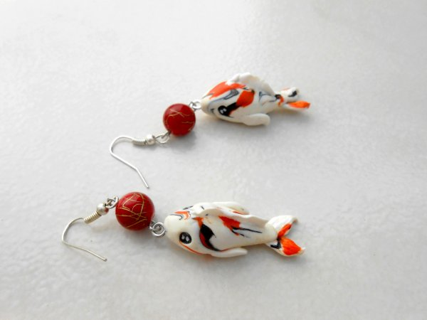 Boucle d'oreille &ou pendentif  poisson