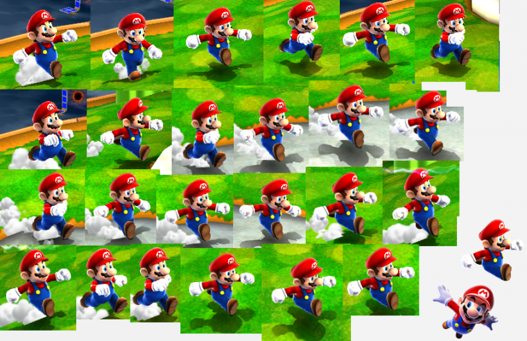 Renders/Sprites : Super Mario 64 , Super Mario Galaxy & Sunshine (Game Cube & Wii)