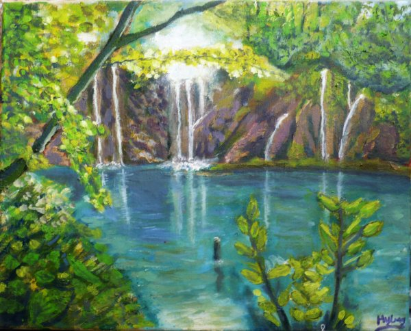 Cascade ( peinture a huile )