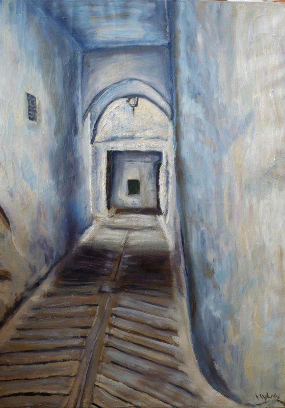 Ancienne medina une peinture a huile