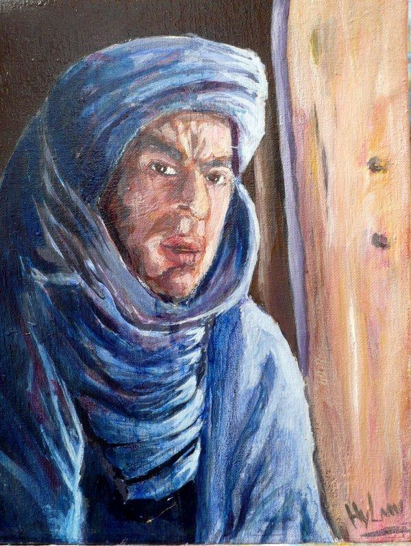 Portrait avec peinture a huile