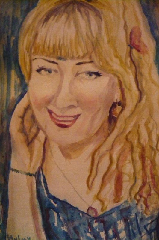 Portraits avec de l'aquarelle