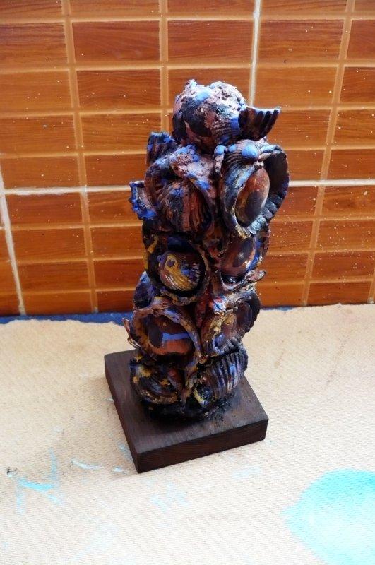 Pièce de décoration avec les coquillages