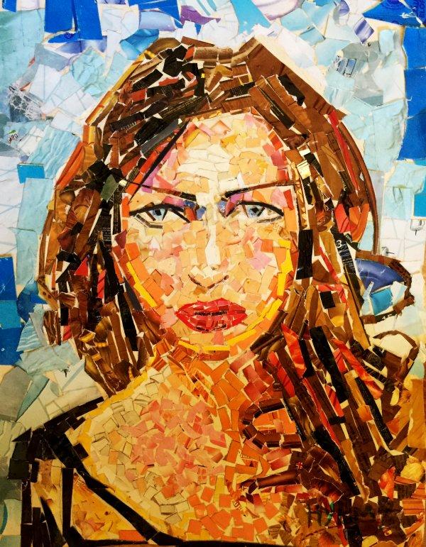 Portrait Nancy Ajram avec collage