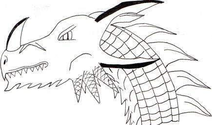 Yop une tete de dragon encr e blog de kogamangaka - Dessin de tete de dragon ...