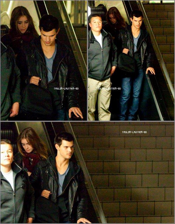 Taylor à été vu à l'aéroport de Los Angeles accompagné de lily le 12 février
