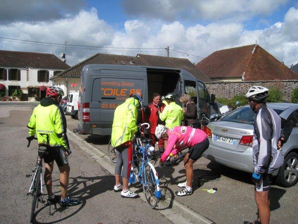 Jeudi 14 septembre - Randonnée Perrigny - St-Phal - Perrigny - 171 km de vélo