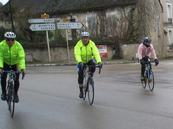 Samedi 17 mars - Sortie Ufolep UC Gurgy-Appoigny - 82 km