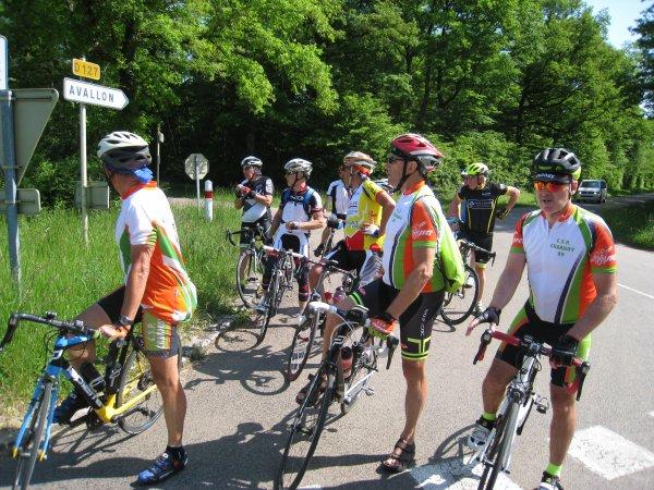 Mardi 8 mai - Randonnée Auxerre-Vézelay-Auxerre - 159 km