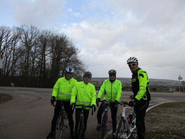 Samedi 9 février - Sortie club - 76 km de vélo !