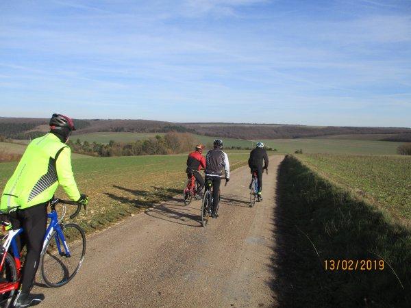 Mercredi 13 février - Sortie club - 75 km de vélo !