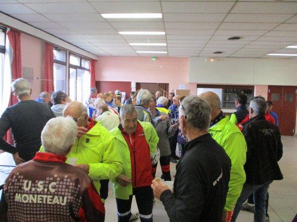 "Samedi 13 avril après-midi - Sortie Ufolep ""AS Gazelec"" à Joigny - 129 km de vélo !"
