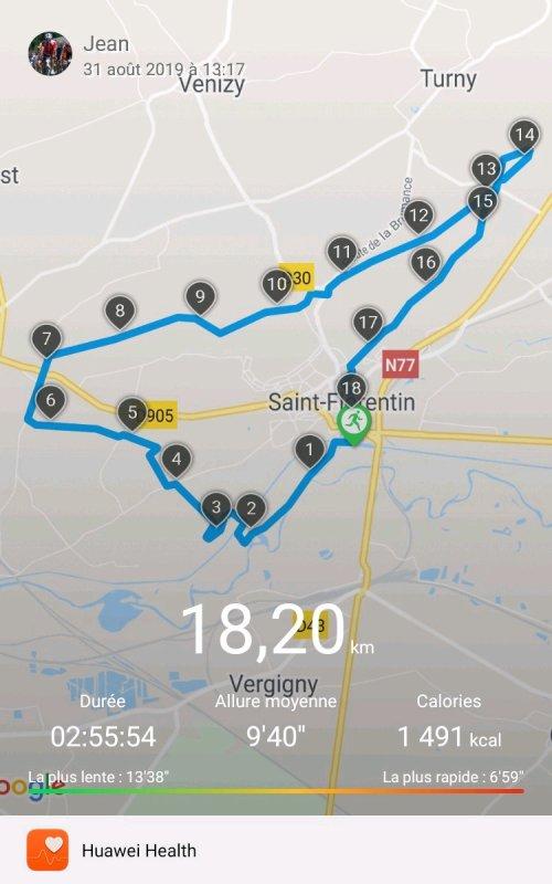 Samedi 31 août - La route des Fromages à St-Florentin - Trail de 18 km 200