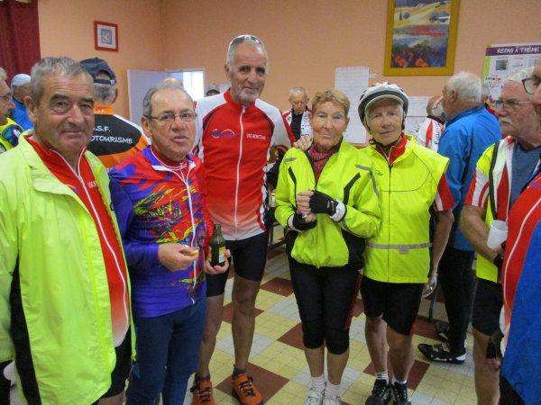 Samedi 5 octobre - Sortie Vélo Club du Coulangeois à Charentenay - 127 km de vélo !