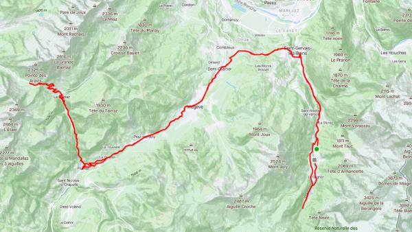 Lundi 20 juillet - Le col des Aravis - 89 km de vélo !