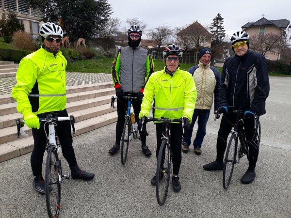 Samedi 2 janvier - Sortie Club - 66 km de vélo