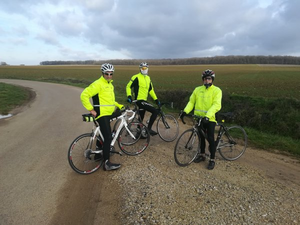 Samedi 9 janvier - Sortie club - 64 km de vélo