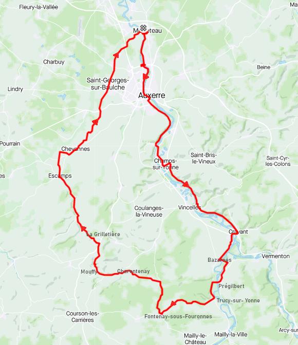 Mardi 26 janvier - Sortie solo -81 km de vélo