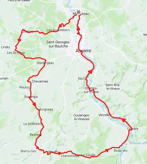 Mardi 16 février - Sortie solo - 87 km de vélo