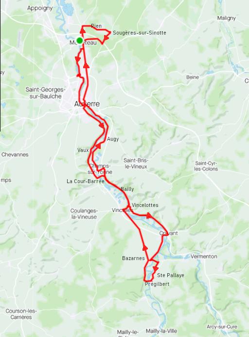 Samedi 20 février - Sortie Club - 72 km de vélo