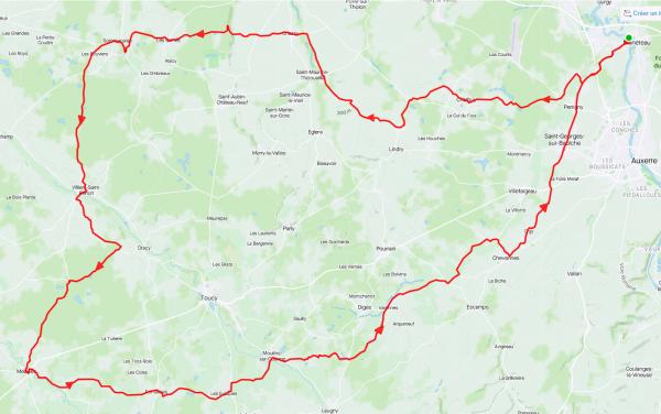 Mardi 23 février - Sortie solo - 103 km de vélo