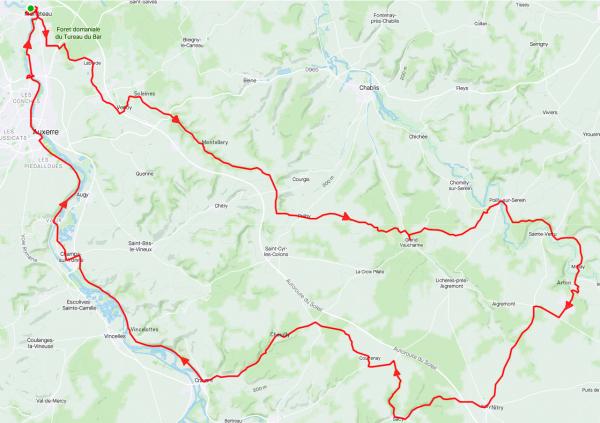 Jeudi 25 février - Sortie solo - 100 km de vélo (tout rond!)