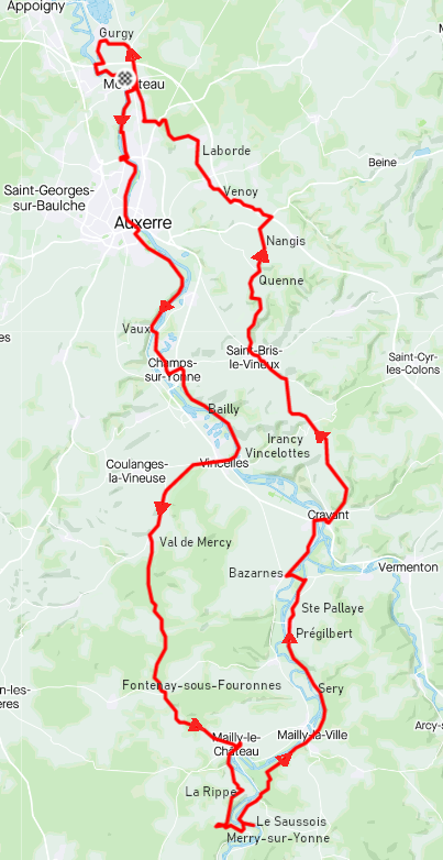 Mardi 2 mars - Sortie solo - 98 km de vélo