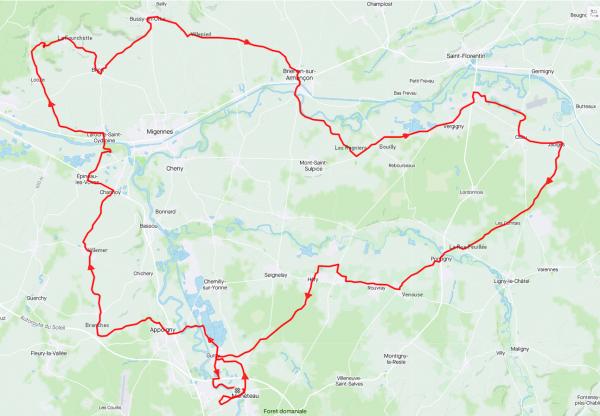 Samedi 3 avril - Sortie Club - 101 km de vélo