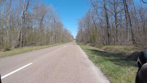 Jeudi 8 avril - Sortie solo - 92 km de vélo