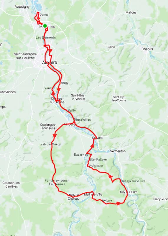 Dimanche 11 juillet - Sortie solo - 102 km de vélo