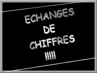 ☆Échange De Chiffres ☆
