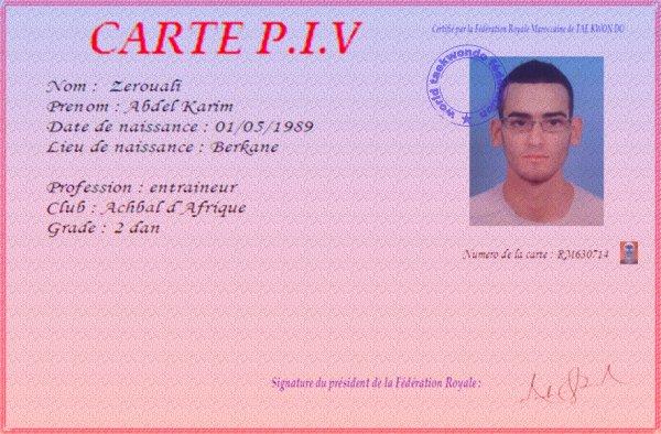 ma carte P.I.V          ;)
