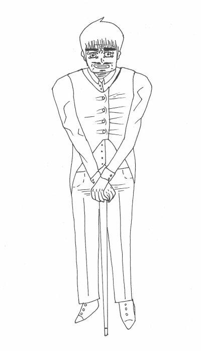 un veille homme avec les patte trop courte