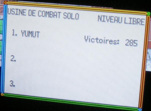 Usine de Combat Solo Nv.100, 285 victoires consécutives (Pokémon Emeraude)