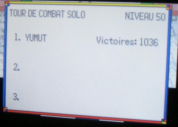 Tour de Combat Solo Nv.50, 1036 victoires consécutives (Pokémon Emeraude)