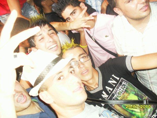 avec mes amis au disco
