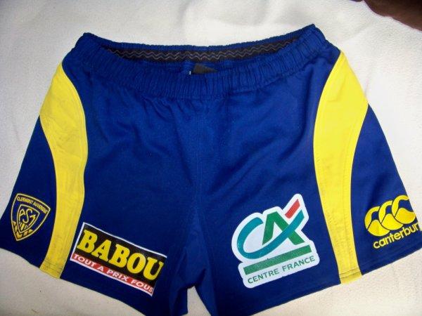 short de match porte par joueur de l asm saison 2008 2009 collection maillot de rugby port. Black Bedroom Furniture Sets. Home Design Ideas