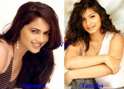 Sameera Reddy vs Tanisha Mukherjee