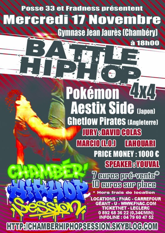BATTLE HIP HOP le 17 novembre 2010 à 18h