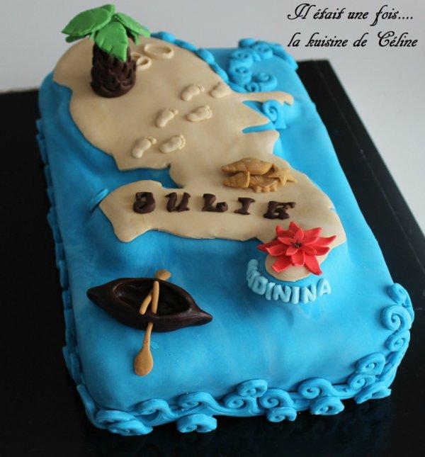 carte de la Martinique en Wedding cake