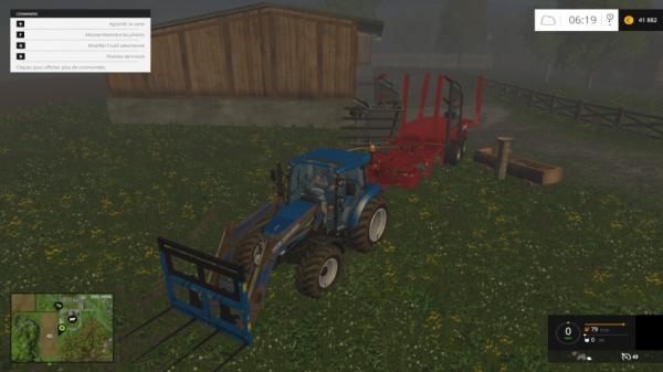 nous repatons vers les champs bottelés pour les ramassées