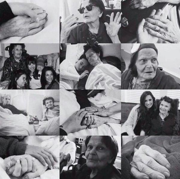 Demi a perdu sa grand-mère... :'( #RipMimaw