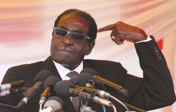 Le président du Zimbabwe Robert Mugabe a dit :