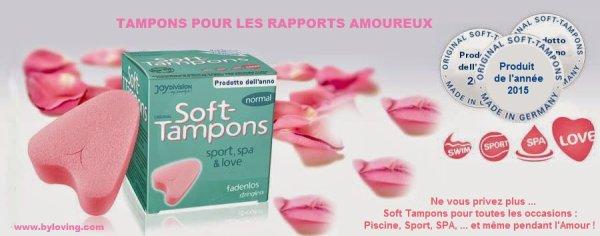 Tampons Soft-tampons pour rapport sexuel, piscine, et sport dans vos Lovestore By Loving.