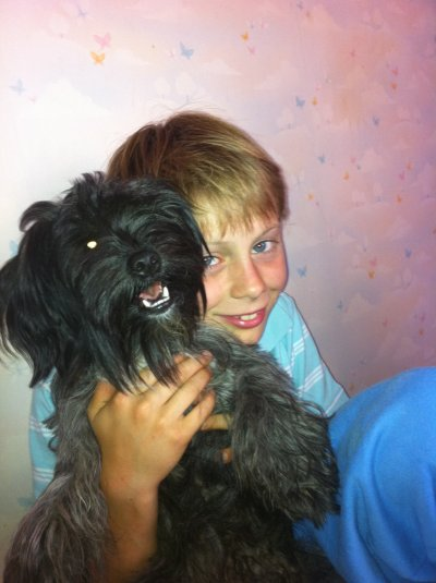 ma chienne rita et mon fils fred
